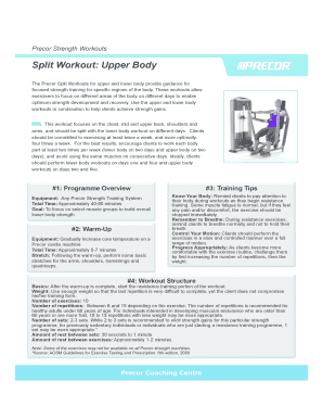 gym exercise chart chest - Printable Forms & Document