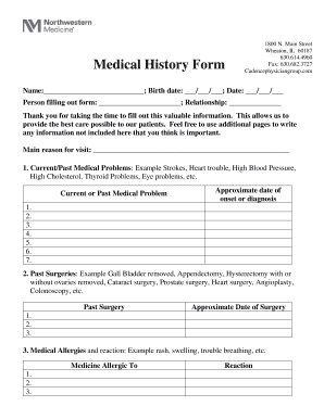 picture regarding Printable Medical Forms named 40 Printable Healthcare Sorts - Types Report Templates in direction of