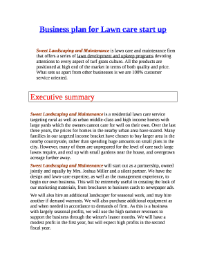 gardening business plan pdf