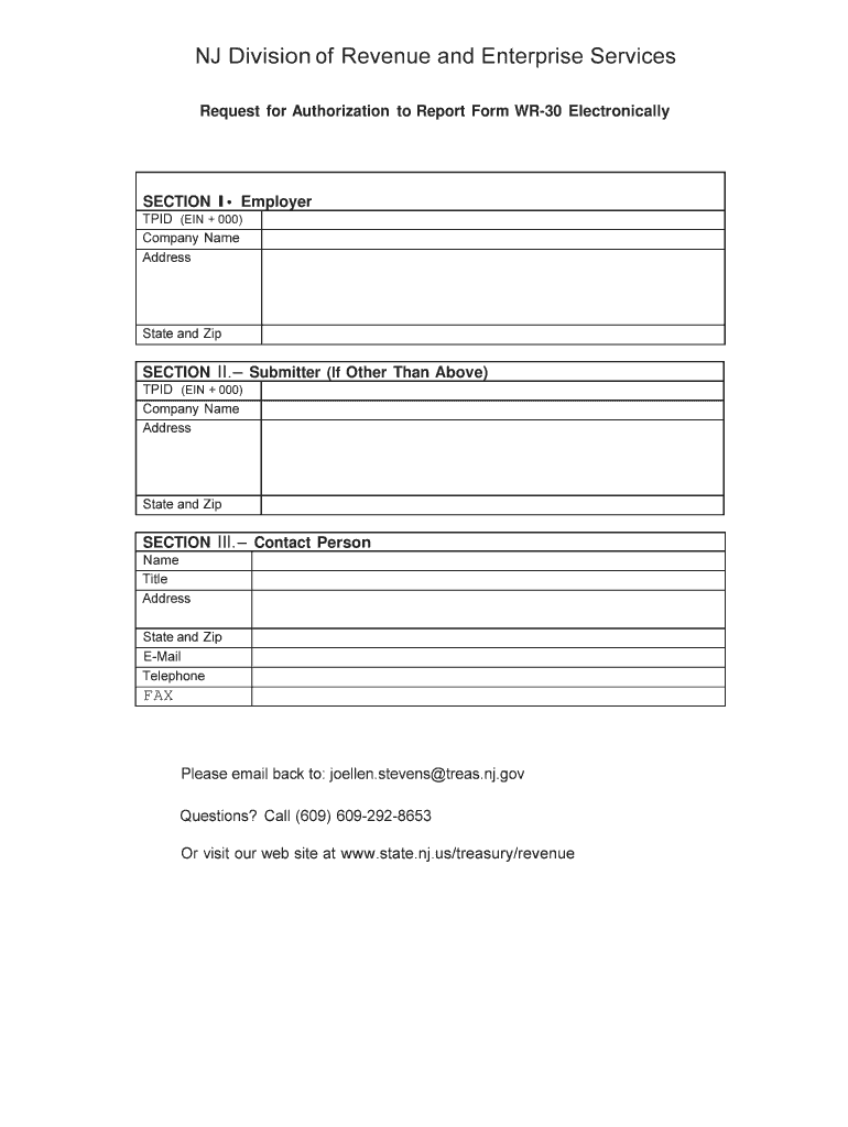 Nj Wr 30 Fill Out Tax Template Online Us Legal Forms