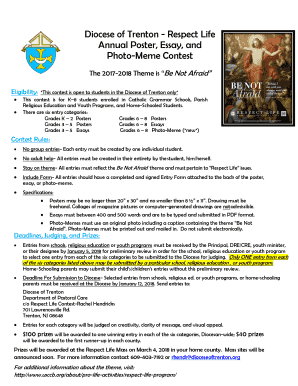fillable online respect life annual poster essay and photo meme  fill online
