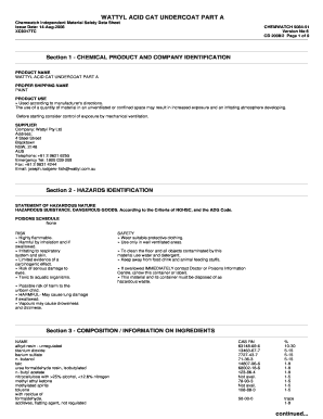 Fillable Online Material Safety Data Sheet Acetone 1 Chemical Product Fax Email Print Pdffiller