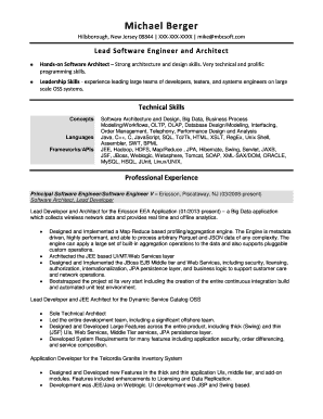 8 Sample Architect Resumes - Fillable Form Samples to Submit
