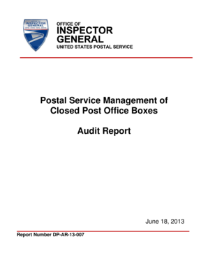 Postal Service Management of - uspsoig