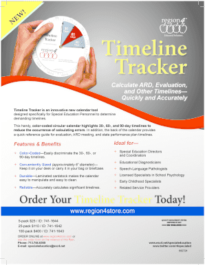 educational diagnostician timeline tracker form