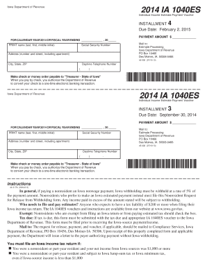2014 Ia 1040 - Fill Online, Printable, Fillable, Blank | PDFfiller