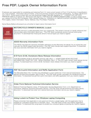 lojack owner information form fill online printable fillable rh pdffiller com LoJack Logo LoJack Transmitter