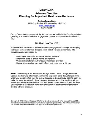 Advanced Bdirective Healthcareb Planning Maryland