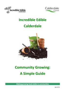 Community Growing Guidance: Incredibly Edible - Calderdale Council