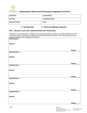 sample  appraisal   annual performance review templates fillable printable samples