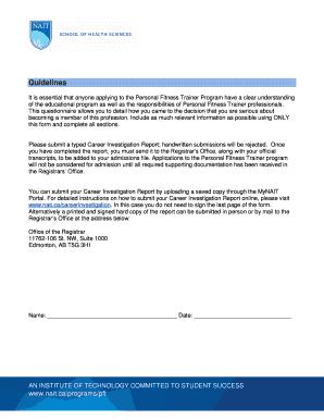 editable personal trainer profile template fill print download