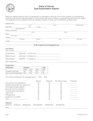 Fillable Online champaignschools Eye Exam Form - Champaign Unit 4 ...