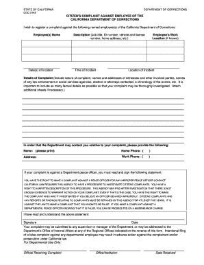 19 Printable employee complaint letter Forms and Templates