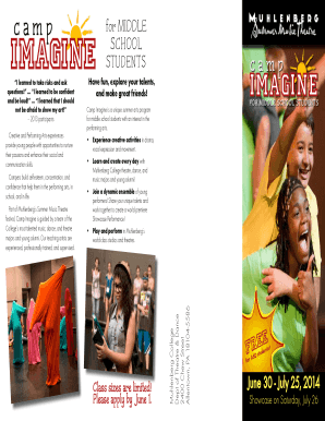 CAMP IMAGINE BROCHURE pdf - Muhlenberg College - muhlenberg