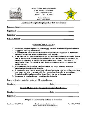 Key Agreement Form - Fill Online, Printable, Fillable, Blank ...