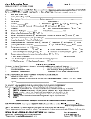 spokane county court forms - Edit & Fill Out, Download