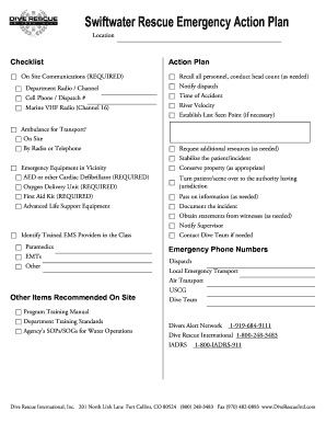 Diving Rescue Plan Example - Fill Online, Printable, Fillable ...