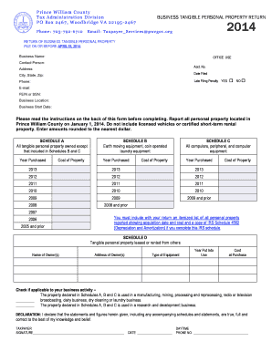 Business Tangible Personal Property Return Form