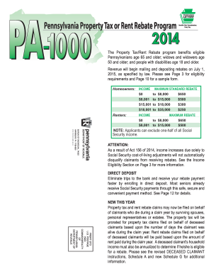Pa Form 1000 - Fill Online, Printable, Fillable, Blank | PDFfiller