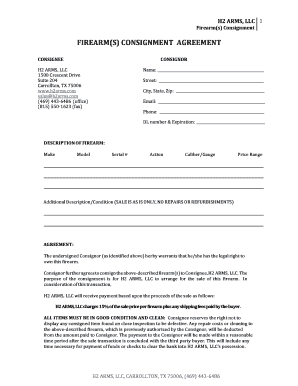 FIREARM(S) CONSIGNMENT AGREEMENT - Dealerease.net - dealerease
