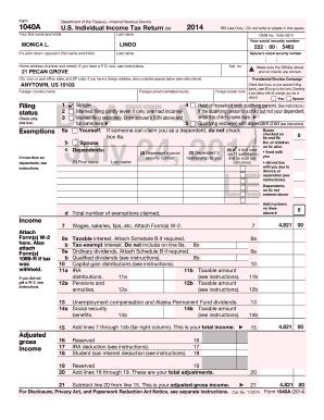 Form 1040a irs gov internal revenue service fax email print