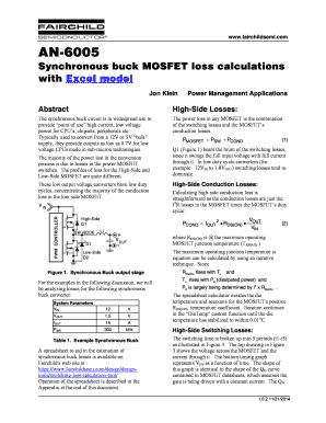 mosfet loss calculation excel