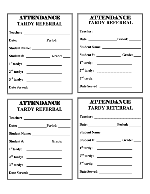 Fillable online attendancetardy referral form west high school rate this form thecheapjerseys Images