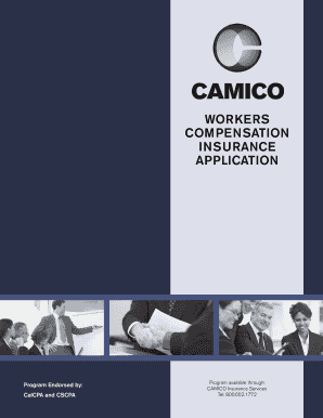 WORKERS COMPENSATION INSURANCE APPLICATION - Camico