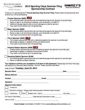 Printable sports sponsorship proposal pdf - Edit, Fill Out