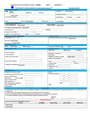 Fillable Online Lication Form For Money Transfer Retail