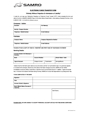 how to fill in samro forms fill online printable fillable blank
