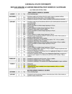 Lsu 2022 Academic Calendar.Lsu Calendar 2020 Fill Online Printable Fillable Blank Pdffiller