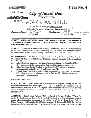 City Of South Gate >> Fillable Online Atntha Iitl4 L City Of South Gate Fax