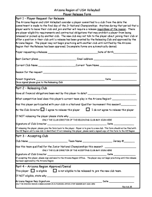 Fillable Online Usav Youth Amp Junior Volleyball Player Medical Release Form Ovr Fax Email Print Pdffiller