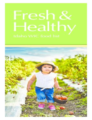 Fillable Online Idaho Wic Food List Fax Email Print Pdffiller
