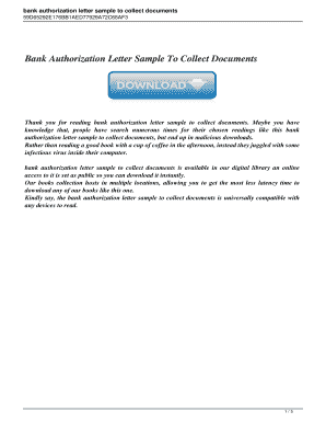 Authorisation Letter For Bank from www.pdffiller.com