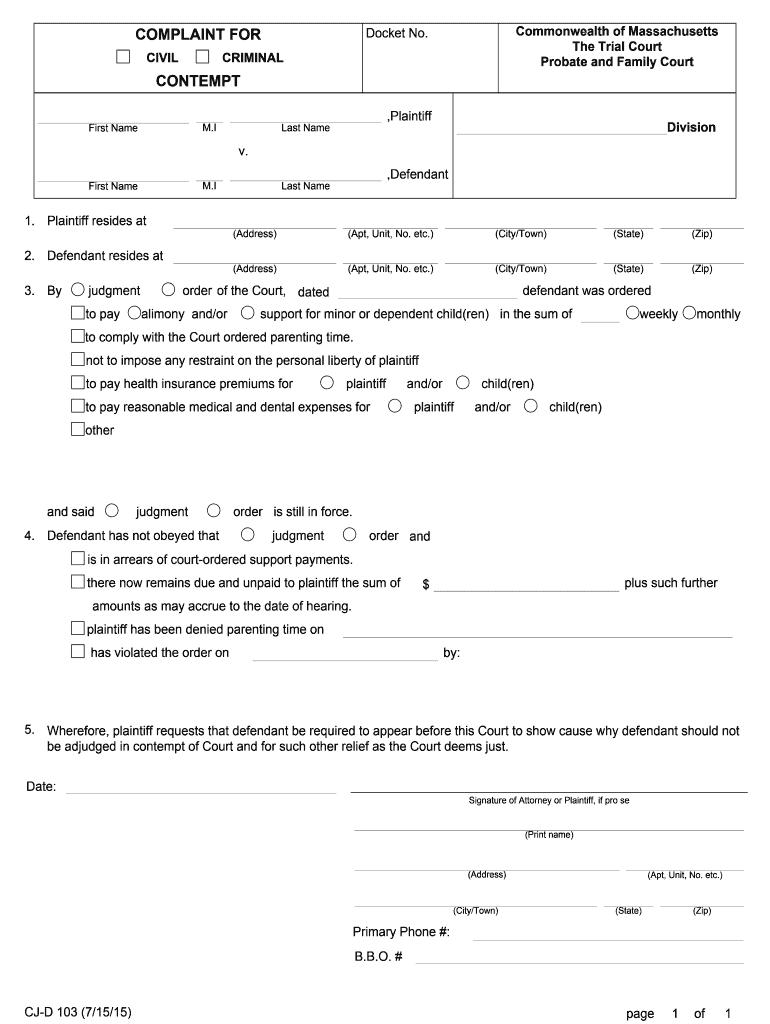 2015 2021 Form Ma Cj D 103 Fill Online Printable Fillable Blank Pdffiller