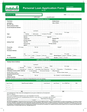 Personal Loan Application Form Pdf Fill Online Printable Fillable Blank Pdffiller
