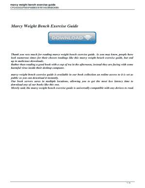 marcy diamond elite exercise chart - Printable Forms