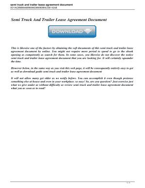 Fillable Truck Rental Lease Agreement Form Edit Online