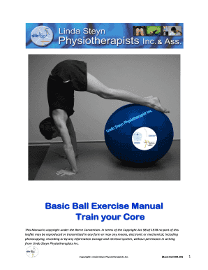 picture about Printable Exercise Ball Workouts titled Editable health and fitness ball exercise routine chart pdf - Fillable