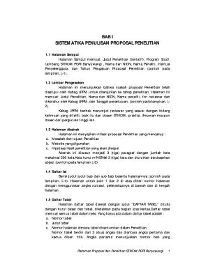 Fillable Online Sistematika Penulisan Proposal Amp Laporan Penelitian Stikom Banyuwangi1 Fax Email Print Pdffiller