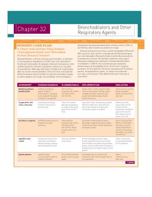 Editable nursing care plan for cough - Fill, Print ...