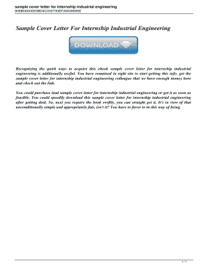 Fillable Online Sample cover letter for a mechanical ...