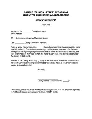 Sample Of Legal Letter from www.pdffiller.com