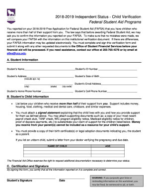 2018 2019 free application for federal student aid