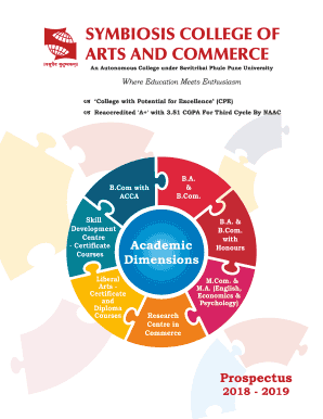 Fillable Online Symbiosis College Of Arts And Commerce Pune Courses Amp Fees Fax Email Print Pdffiller