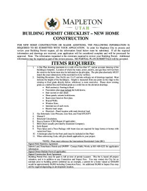 2008 Form UT Building Permit Application - Mapleton City ...