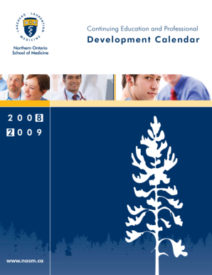 2 0 0 8 2 0 0 9 Development Calendar - Northern Ontario School of ...