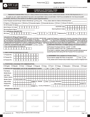 Life Insurance Proposal Form - Fill Online, Printable ...